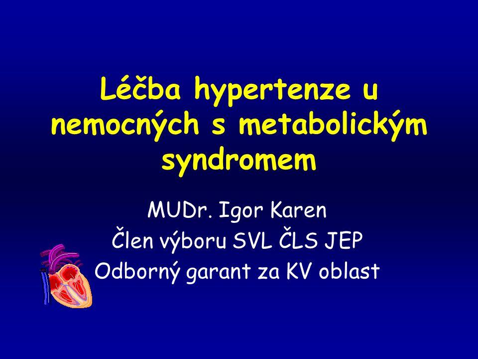 Léčba hypertenze u nemocných s metabolickým syndromem MUDr.