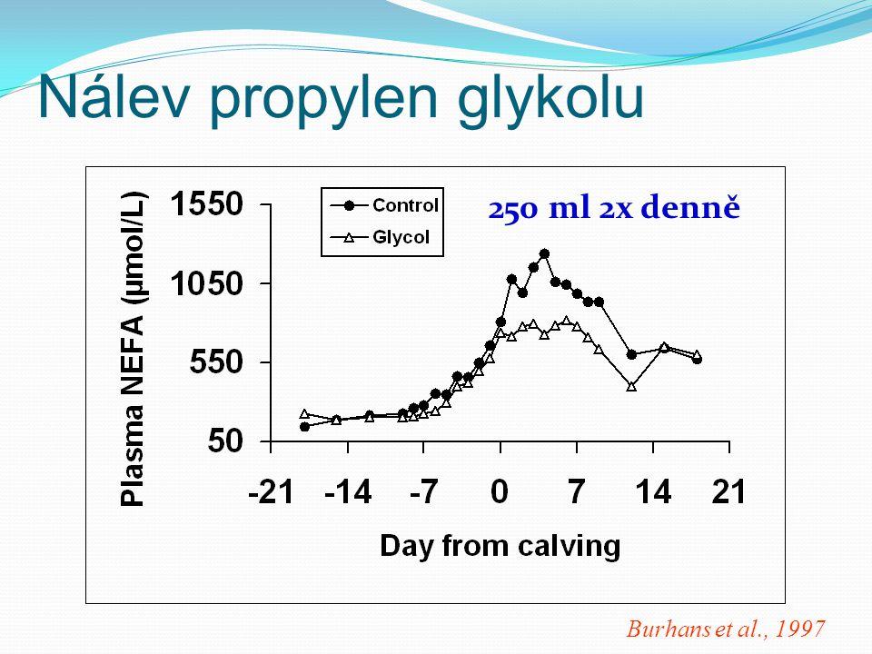 Burhans et al., 1997 Nálev propylen glykolu 250 ml 2x denně