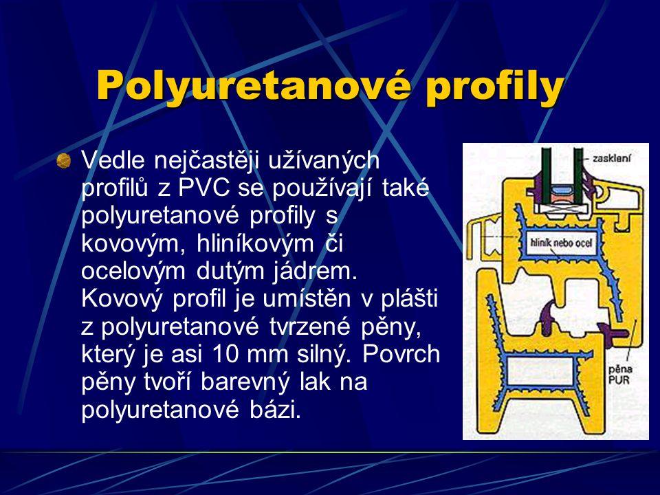 Profily z polyvinylchloridu Jednokomorový systém má mezi vnitřní a vnější stěnou profilu vrstvu vzduchu, umožňují relativně snadnou cirkulaci vzduchu