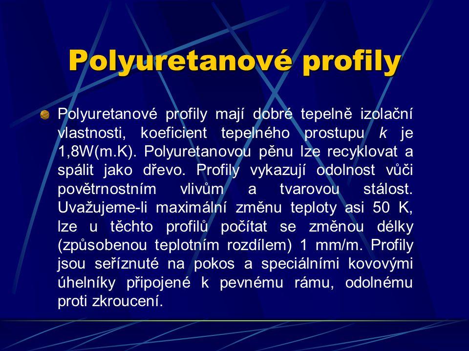 Polyuretanové profily Vedle nejčastěji užívaných profilů z PVC se používají také polyuretanové profily s kovovým, hliníkovým či ocelovým dutým jádrem.