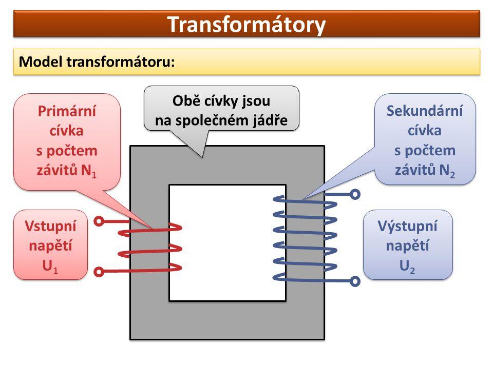 Transformátory Činnost transformátoru je založena na elektromagnetické indukci.