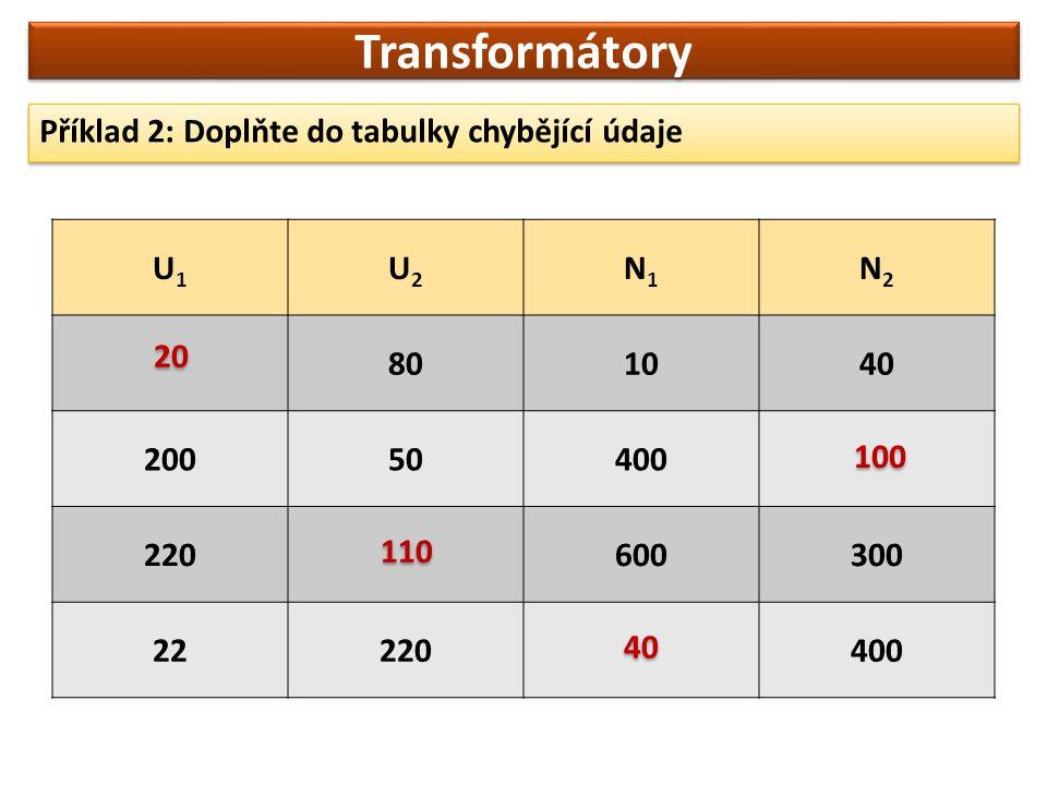 Ukázky transformátorů: Transformátory