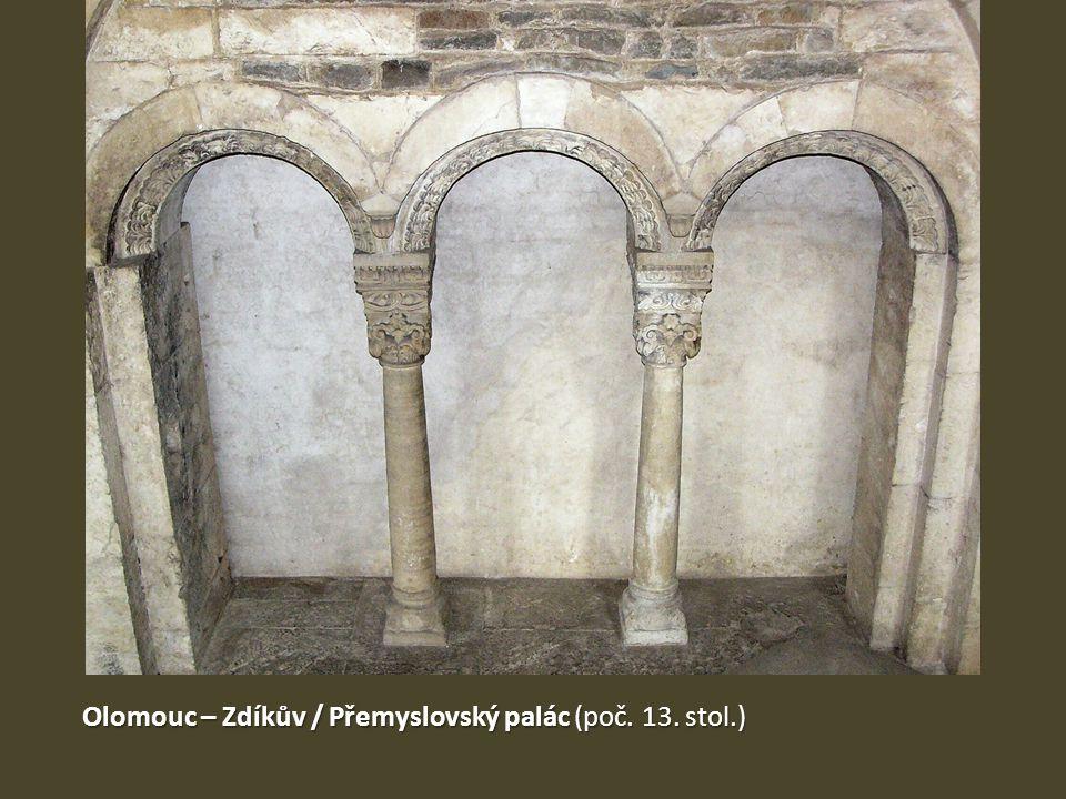 Olomouc – Zdíkův / Přemyslovský palác (poč. 13. stol.)