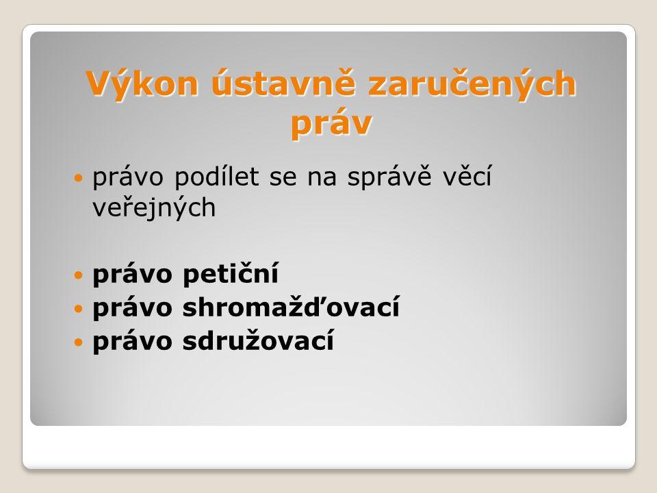 Právo petiční  čl.18 LZPS, z. č. 85/1990 Sb.