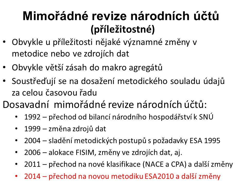 Mimořádná revize národních účtů 2014 (3) I.
