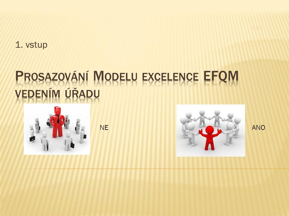 """ Aby bylo dosaženo trvalé sledování vývoje kvality v rámci úřadu, respektive udržování Modelu excelence EFQM zaměřuji svou pozornost především na:  Řízení pomocí procesů a faktů  Oceňování zaměstnanců  Výsledky činnosti – kvalita poskytovaných služeb  Společenská odpovědnost úřadu  Neustálé zlepšování se  Spolupráce odborů a týmová práce  Věcný přístup k rozhodování  Sledování úspěchů a jejich udržitelnosti  Mezikrajský benchmarking """"Úřad, který uvízne v kolotoči operativy, spíše výsledky očekává."""
