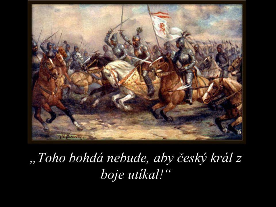 """""""Toho bohdá nebude, aby český král z boje utíkal!"""""""