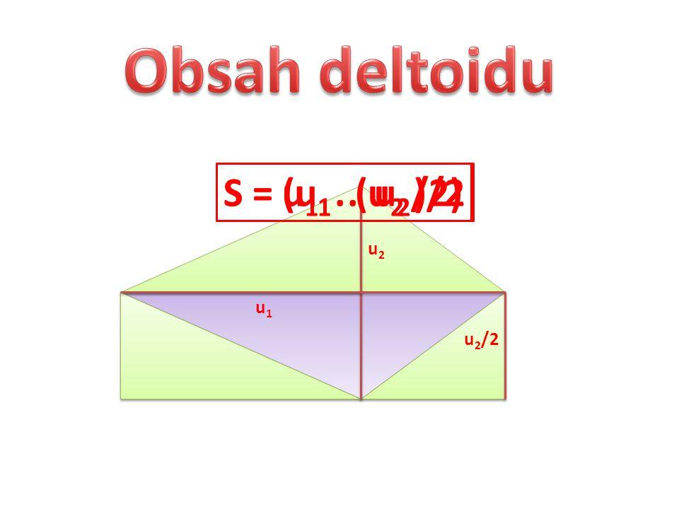 u1u1 u2u2 u 2 /2 S = u 1. ( u 2 /2)S = (u 1. u 2 )/2