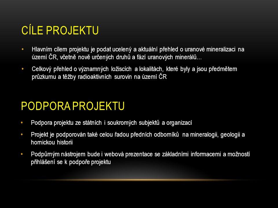 PODPORA PROJEKTU • Podpora projektu ze státních i soukromých subjektů a organizací • Projekt je podporován také celou řadou předních odborníků na mine