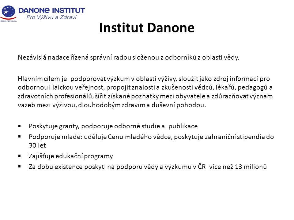 Institut Danone Nezávislá nadace řízená správní radou složenou z odborníků z oblasti vědy.
