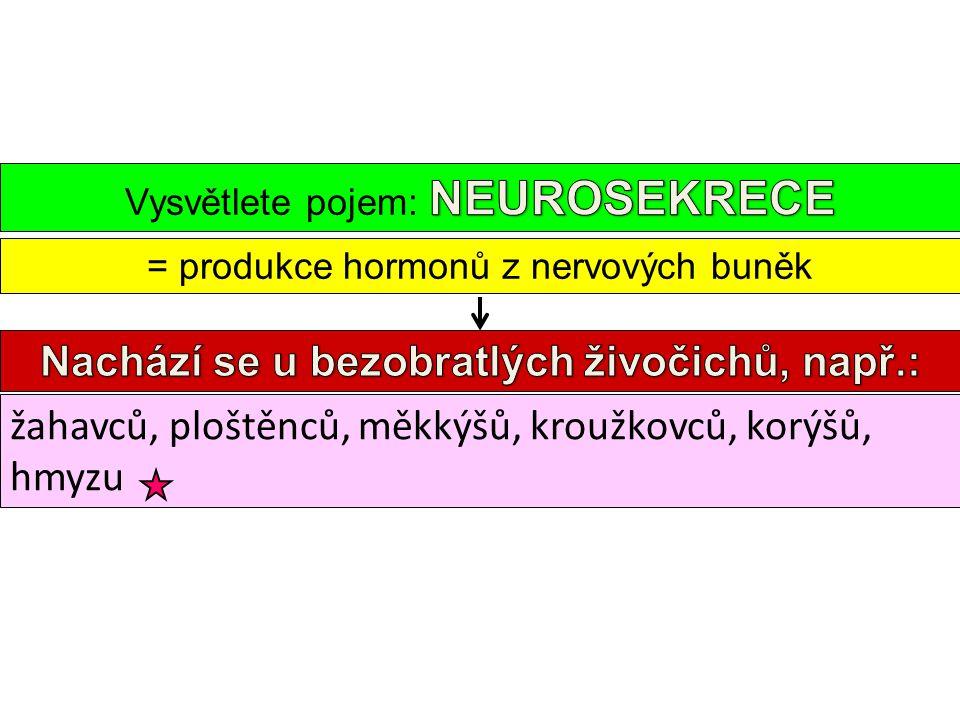 = produkce hormonů z nervových buněk žahavců, ploštěnců, měkkýšů, kroužkovců, korýšů, hmyzu