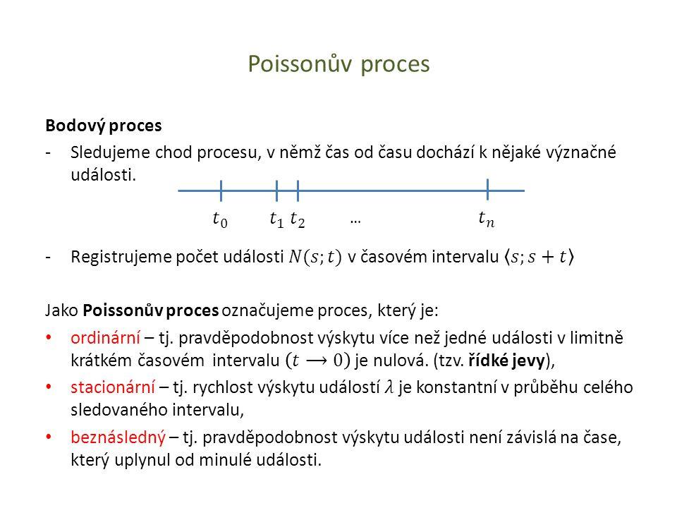 Poissonův proces …