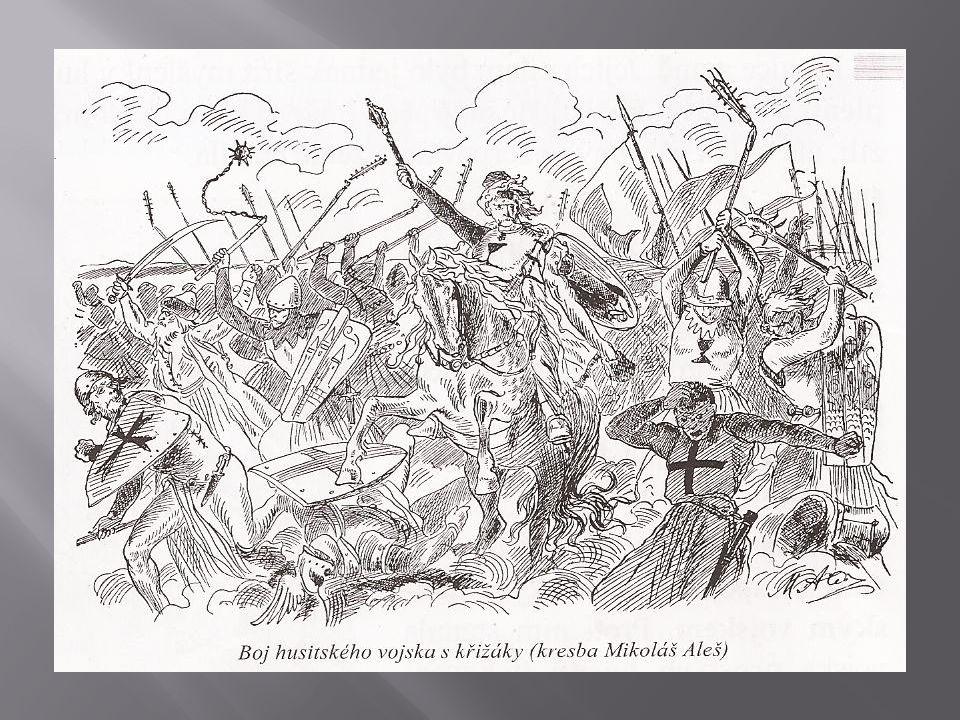 - po smrti Žižky vedl husity Prokop Holý - v bitvě u Domažlic roku 1431 pod vedením Prokopa Holého zahnali husité křižáky na útěk – křižáci se údajně rozprchli po tom, co uslyšeli zpěv husitských bojovníků (Kdož sú boží bojovníci) - později přecházeli husité od obrany také k útoku – spanilé jízdy - výpravy husitů za hranice země, kde měli šířit myšlenky husitů a zastrašovat nepřítele, ale také plenit a získávat kořist - začali bojovat proti hradům, klášterům i městům - vítězili, ale válka všechny vyčerpávala a země chudla