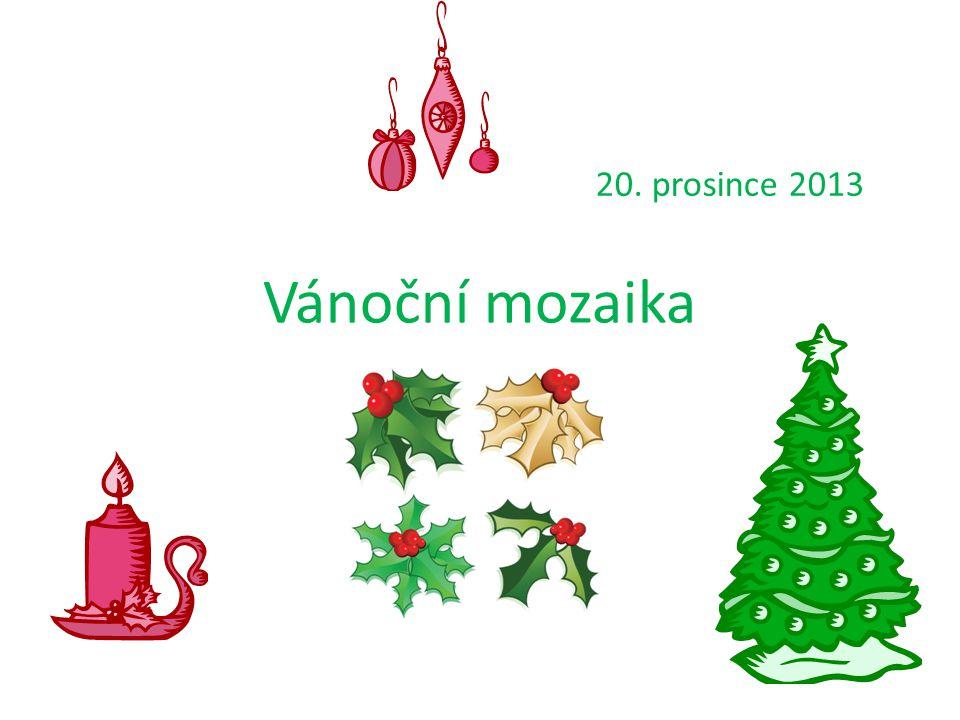 Vánoční mozaika 20. prosince 2013