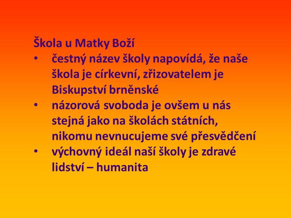 Kontakty Střední odborná škola sociální u Matky Boží Jihlava Fibichova 67, Jihlava www.sosmb.ji.cz tel.
