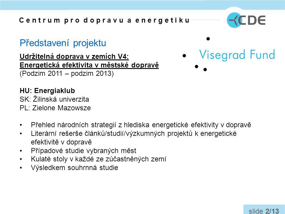 Otázky do diskuse: Jaká opatření jsou prioritou pro zvýšení energetické efektivity v dopravě.
