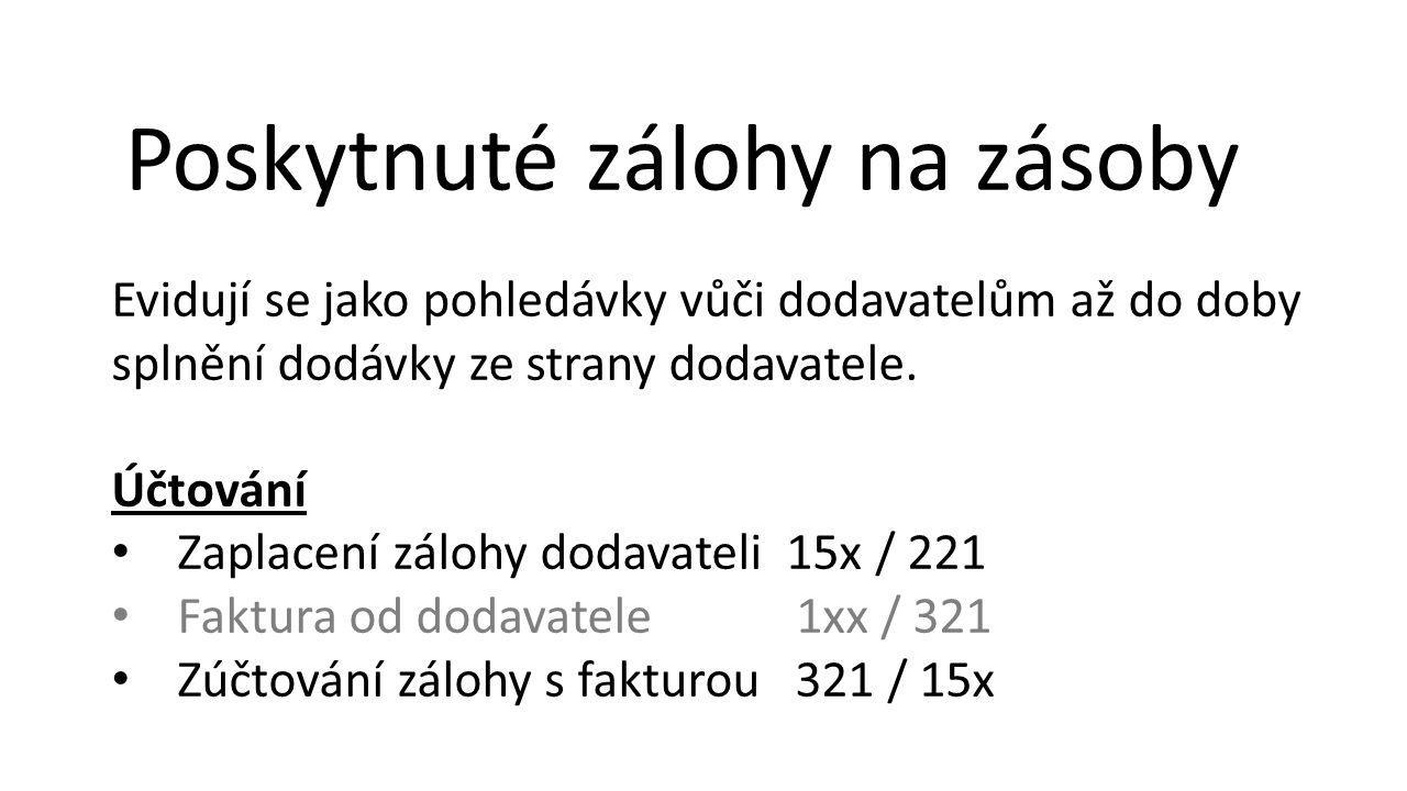 Pohledávky v cizí měně Při zahraničních obchodních operacích je třeba vést evidenci pohledávek v české i zahraniční měně.