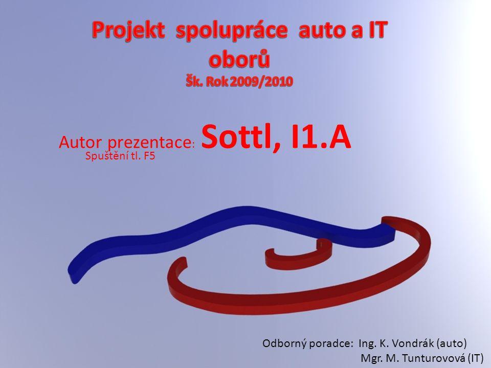 Autor prezentace : Sottl, I1.A Odborný poradce: Ing. K. Vondrák (auto) Mgr. M. Tunturovová (IT) Spuštění tl. F5