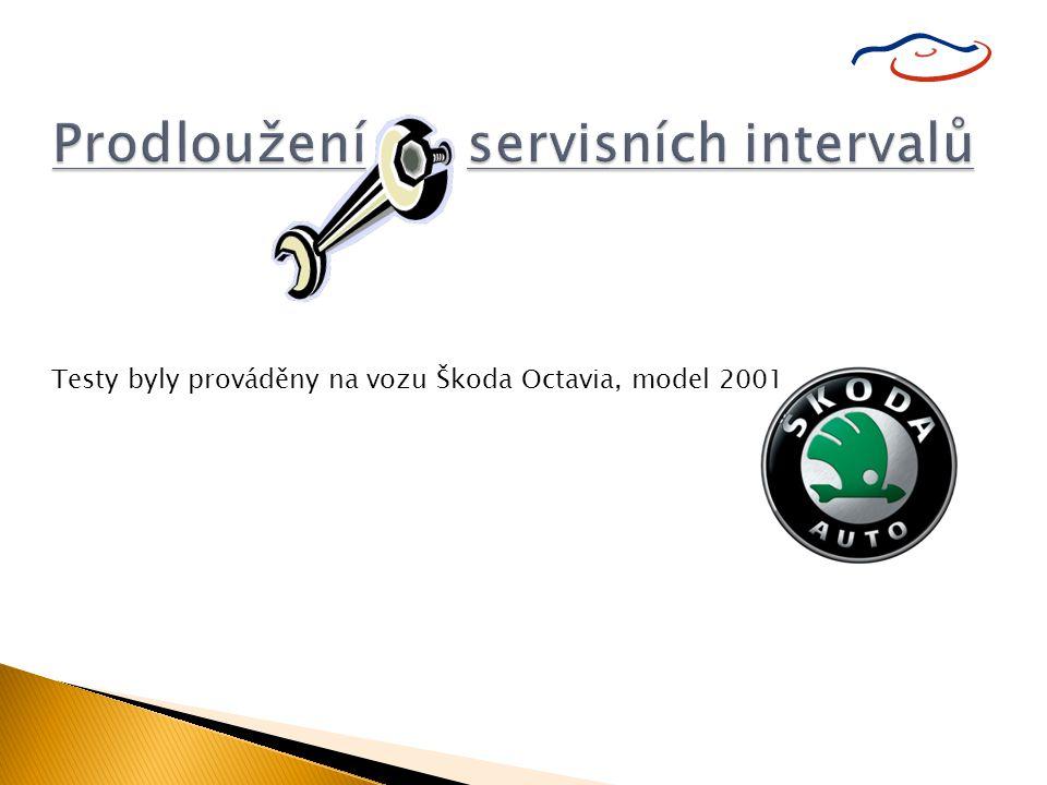 Testy byly prováděny na vozu Škoda Octavia, model 2001