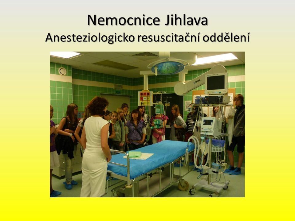 Nemocnice Jihlava Anesteziologicko resuscitační oddělení