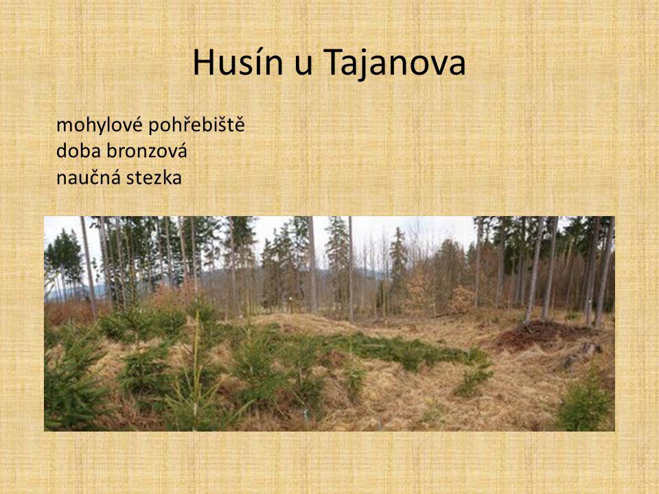 Husín u Tajanova mohylové pohřebiště doba bronzová naučná stezka