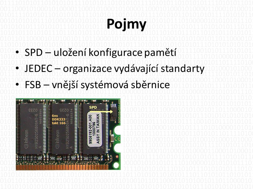 Rozdělění • Statická RAM – nejrychlejší, velký odběr, drahá, cache paměti • Dynamická RAM – nutné refresh obvody, odběr cca 5W, levnější, operační paměti