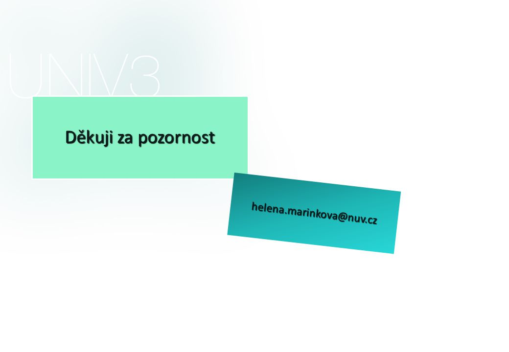 Děkuji za pozornost helena.marinkova@nuv.cz