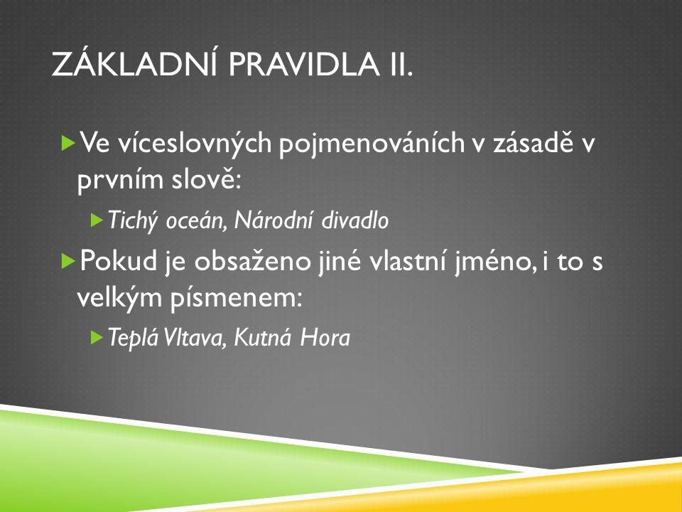 CVIČENÍ III.