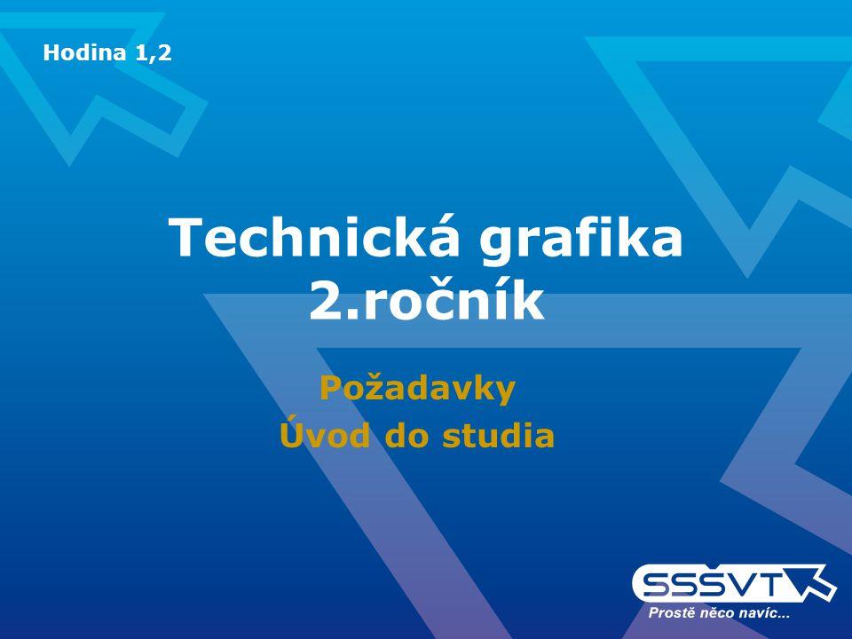 Technická grafika 2.ročník Požadavky Úvod do studia Hodina 1,2