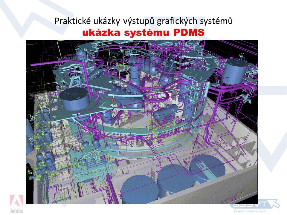 Praktické ukázky výstupů grafických systémů ukázka systému PDMS