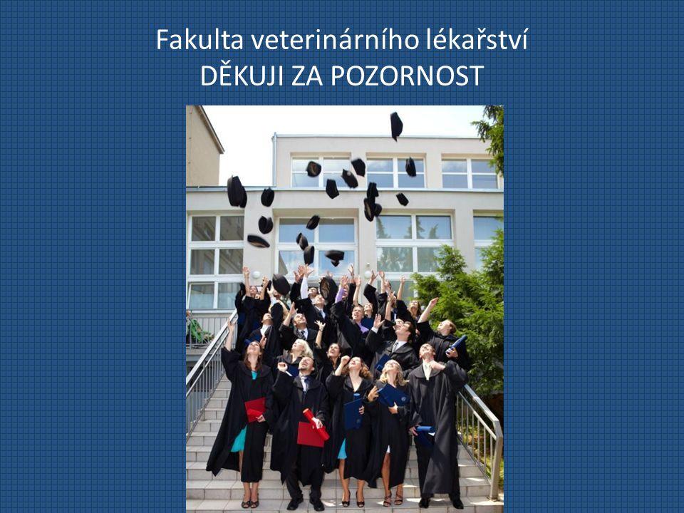 Fakulta veterinárního lékařství DĚKUJI ZA POZORNOST