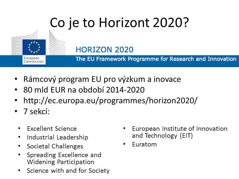 Co je to Horizont 2020.