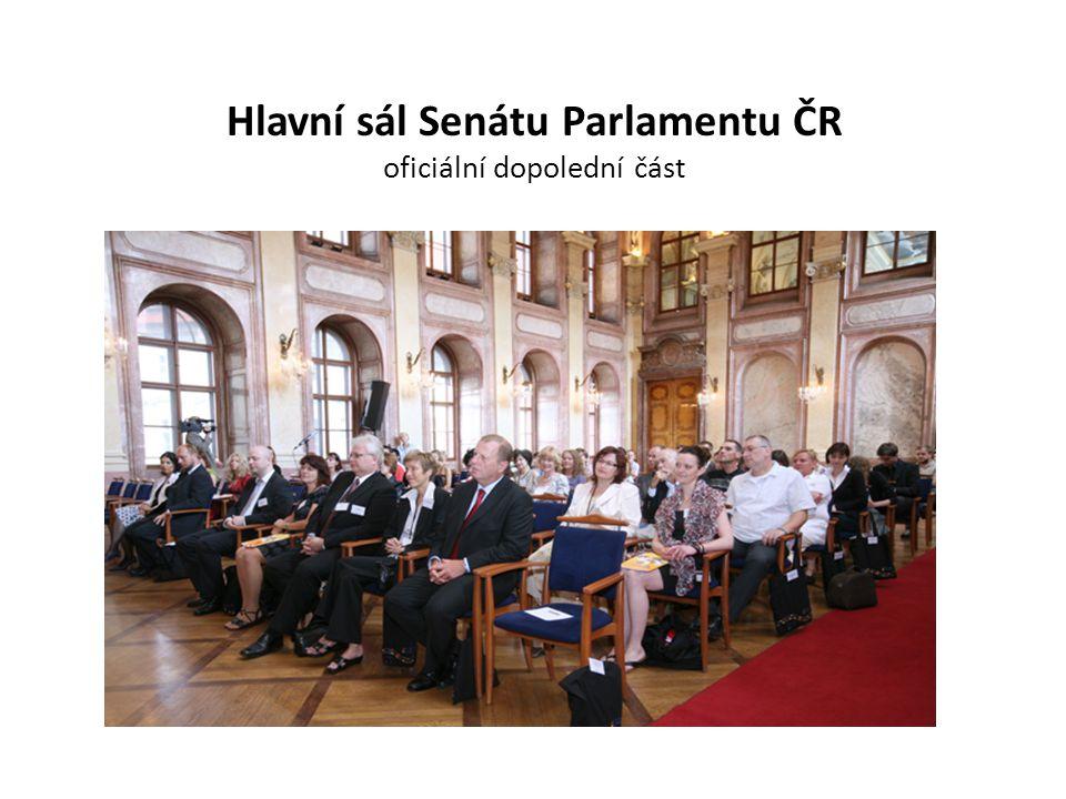 Hlavní sál Senátu Parlamentu ČR oficiální dopolední část