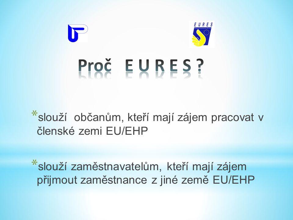 * slouží občanům, kteří mají zájem pracovat v členské zemi EU/EHP * slouží zaměstnavatelům, kteří mají zájem přijmout zaměstnance z jiné země EU/EHP