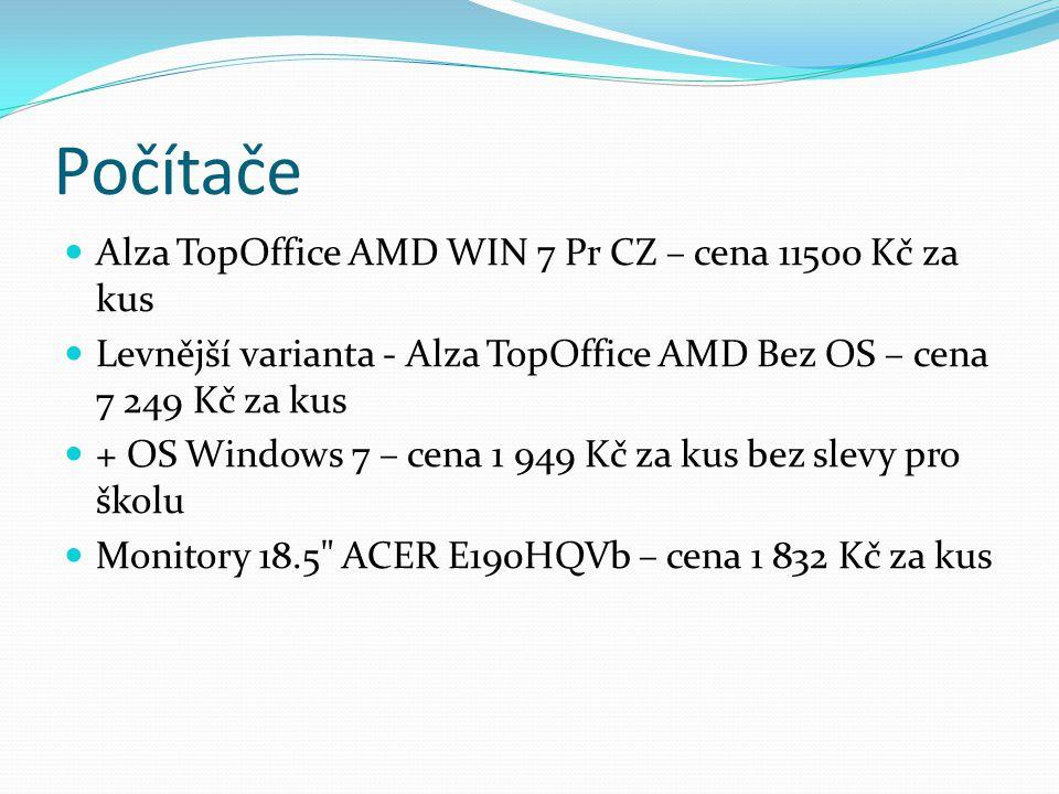 Počítače  Alza TopOffice AMD WIN 7 Pr CZ – cena 11500 Kč za kus  Levnější varianta - Alza TopOffice AMD Bez OS – cena 7 249 Kč za kus  + OS Windows