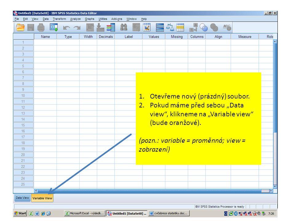 Z dokumentu vytvořeném v programu Microsoft Excel obsahujícím data o edukantech vložíme skóre získaná na dovednostním post-testu.