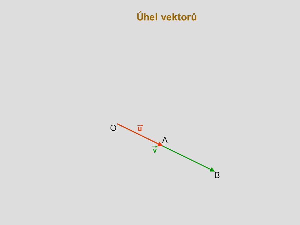 Úhel vektorů v B u A O
