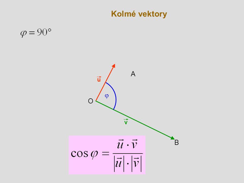 Kolmé vektory v B O u  A