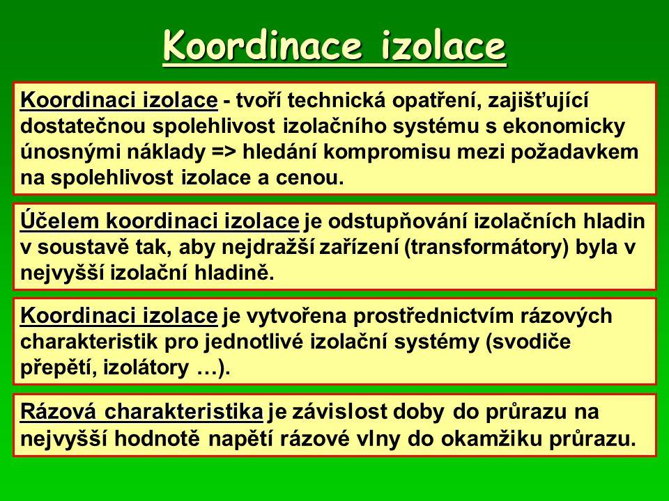 Koordinace izolace Koordinaci izolace Koordinaci izolace - tvoří technická opatření, zajišťující dostatečnou spolehlivost izolačního systému s ekonomi
