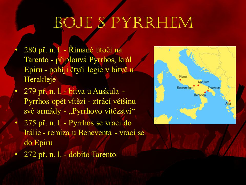 Germánie • 28 – 18 př.n. l. - povstání v Hispánii • 25 př.