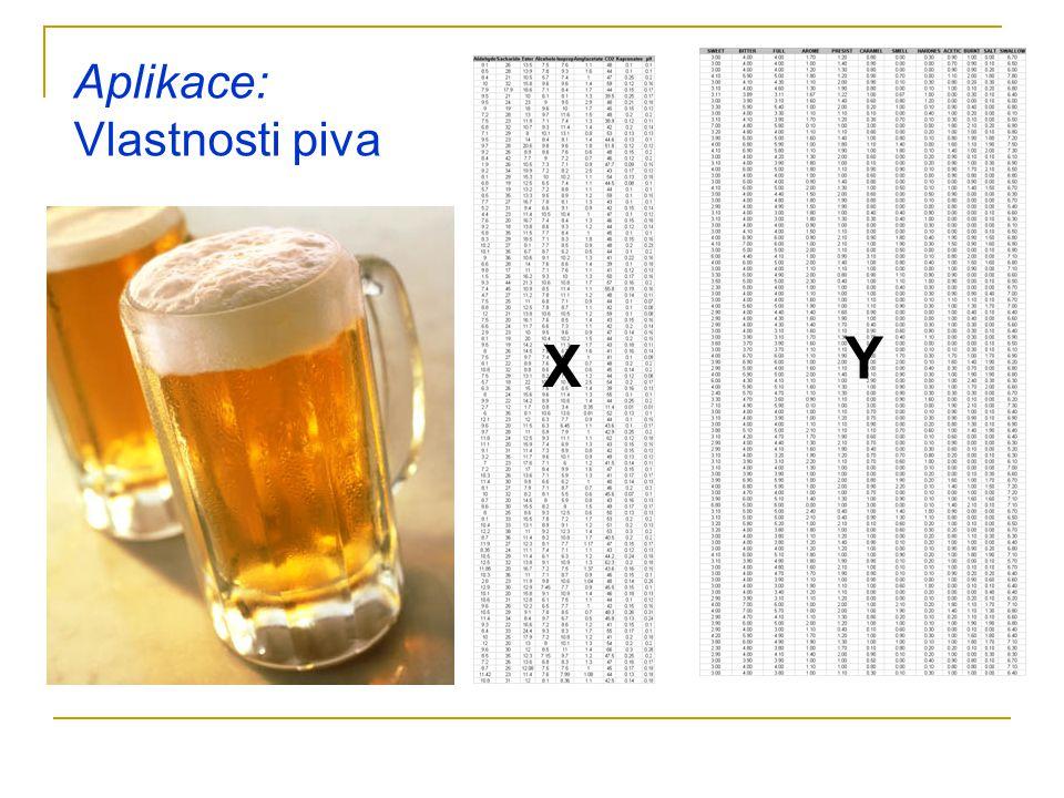 X Y Aplikace: Vlastnosti piva