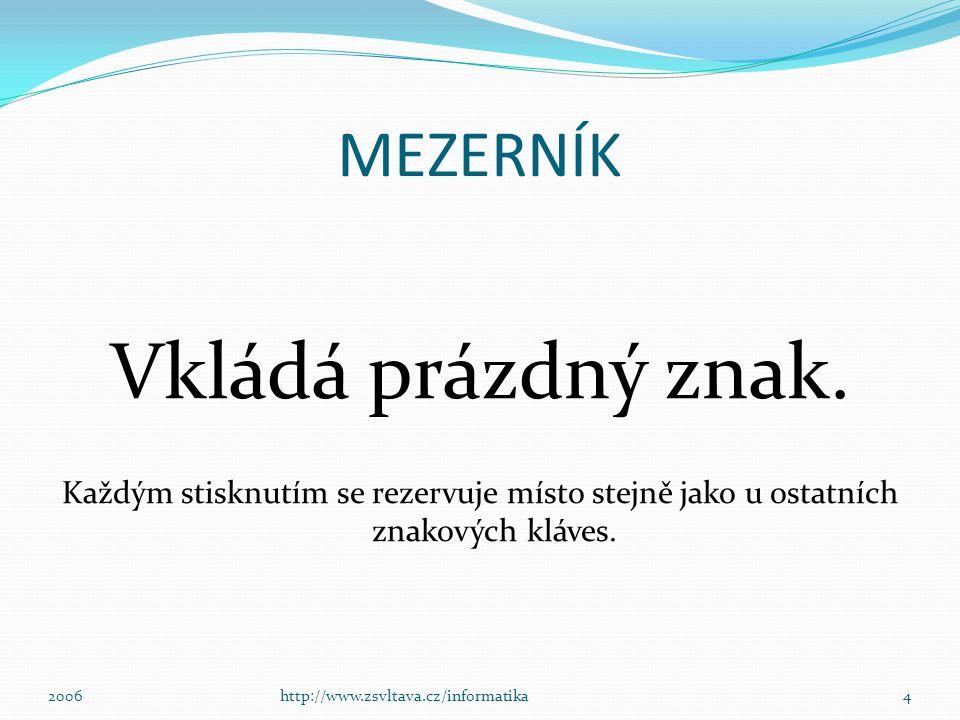 Přepínání mezi klávesnicemi 14http://www.zsvltava.cz/informatika2006