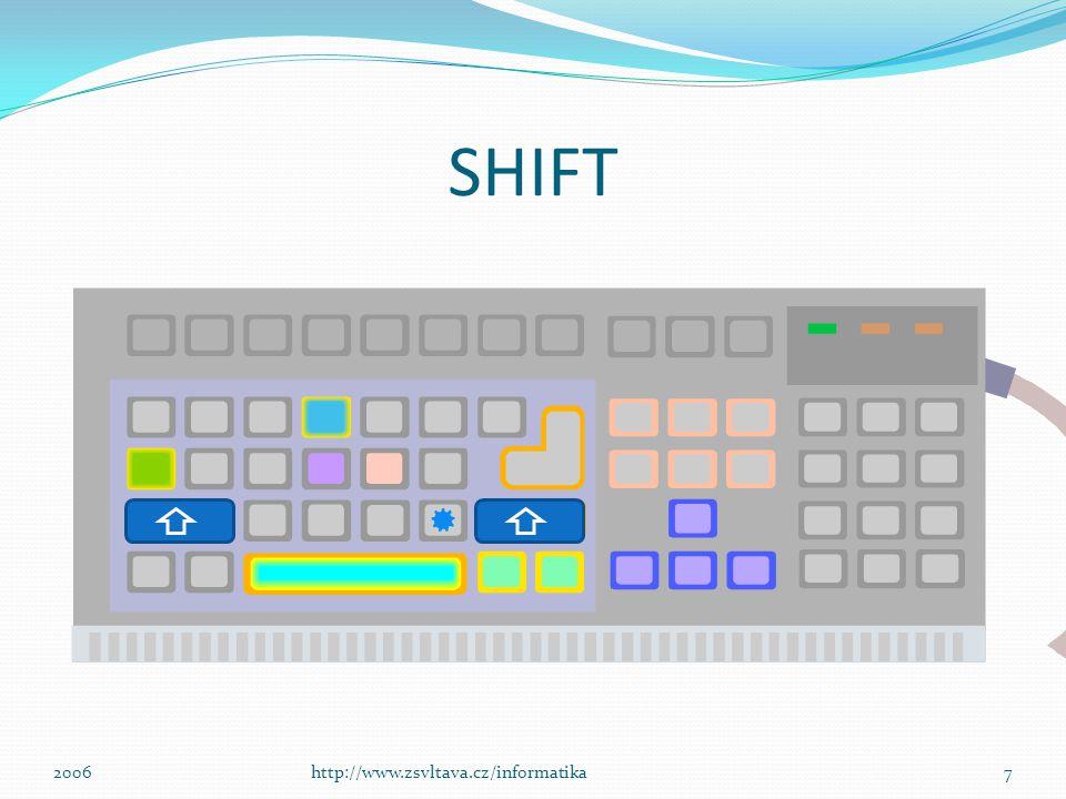 SHIFT 7http://www.zsvltava.cz/informatika2006