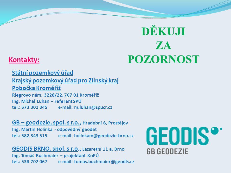 GB – geodezie, spol.s r.o., Hradební 6, Prostějov Ing.