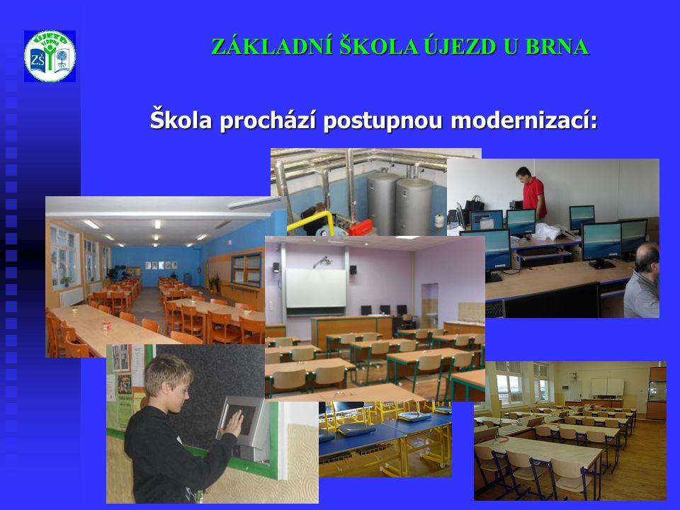 ZÁKLADNÍ ŠKOLA ÚJEZD U BRNA Škola prochází postupnou modernizací: