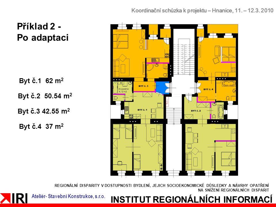 REGIONÁLNÍ DISPARITY V DOSTUPNOSTI BYDLENÍ, JEJICH SOCIOEKONOMICKÉ DŮSLEDKY A NÁVRHY OPATŘENÍ NA SNÍŽENÍ REGIONÁLNÍCH DISPARIT INSTITUT REGIONÁLNÍCH INFORMACÍ Koordinační schůzka k projektu – Hnanice, 11.