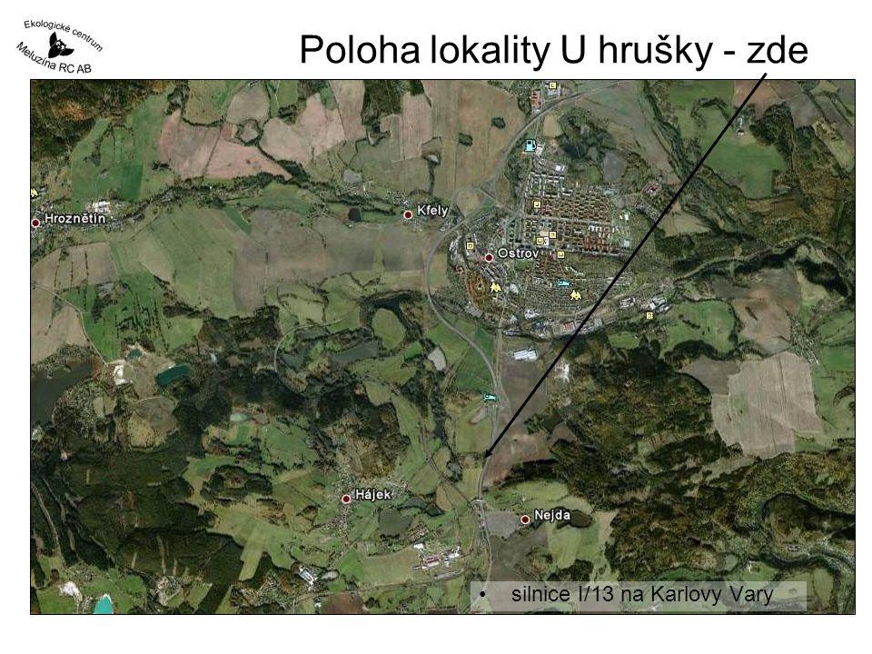 Poloha lokality U hrušky - zde •silnice I/13 na Karlovy Vary
