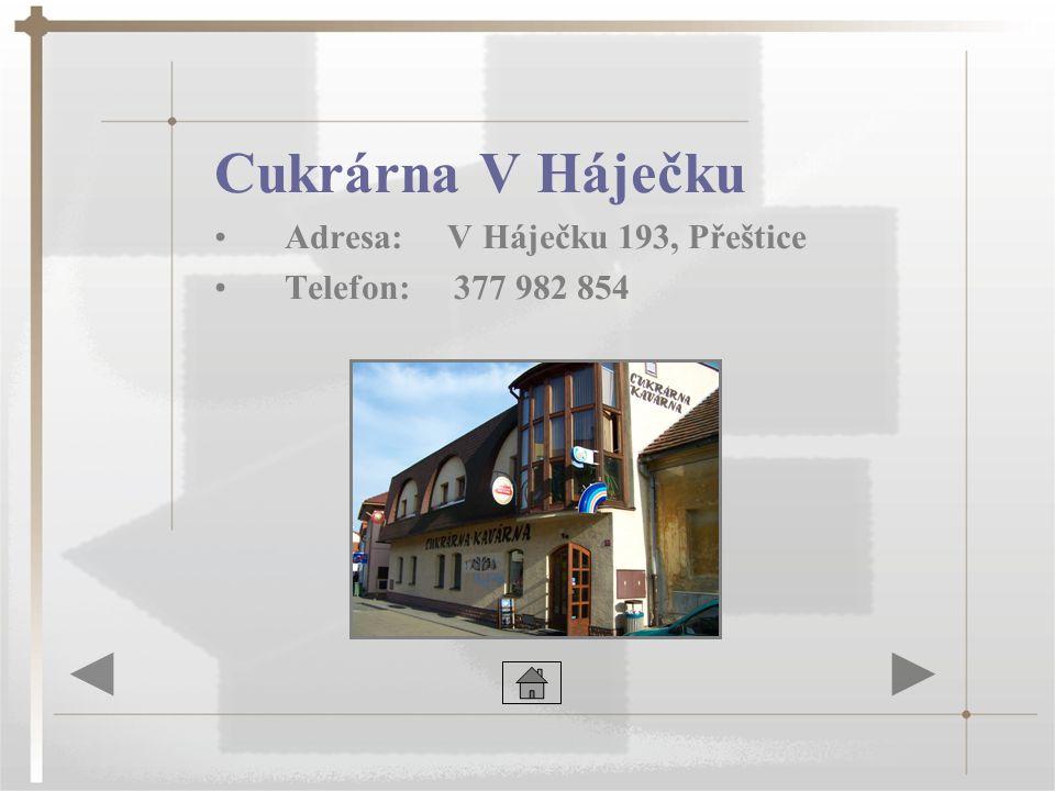 Restaurace Peklo •Adresa: Masarykovo nám.311, Přeštice •Telefon: 377 982 130
