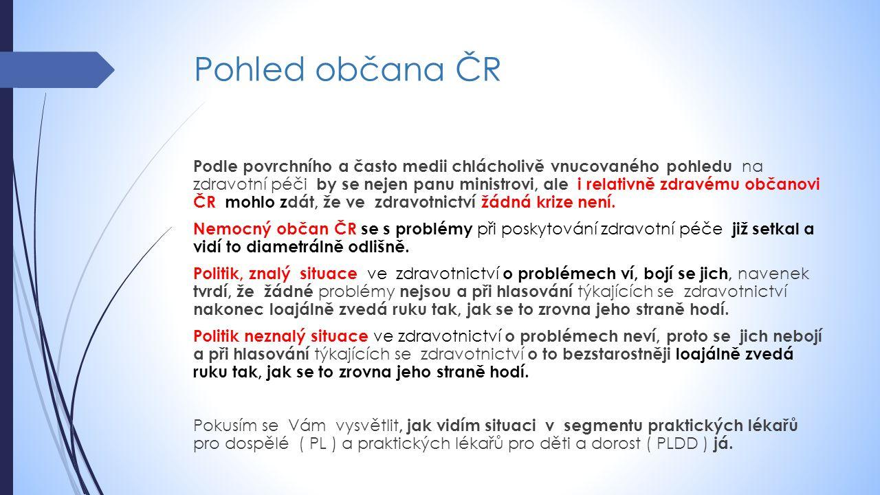 Pohled občana ČR Podle povrchního a často medii chlácholivě vnucovaného pohledu na zdravotní péči by se nejen panu ministrovi, ale i relativně zdravém