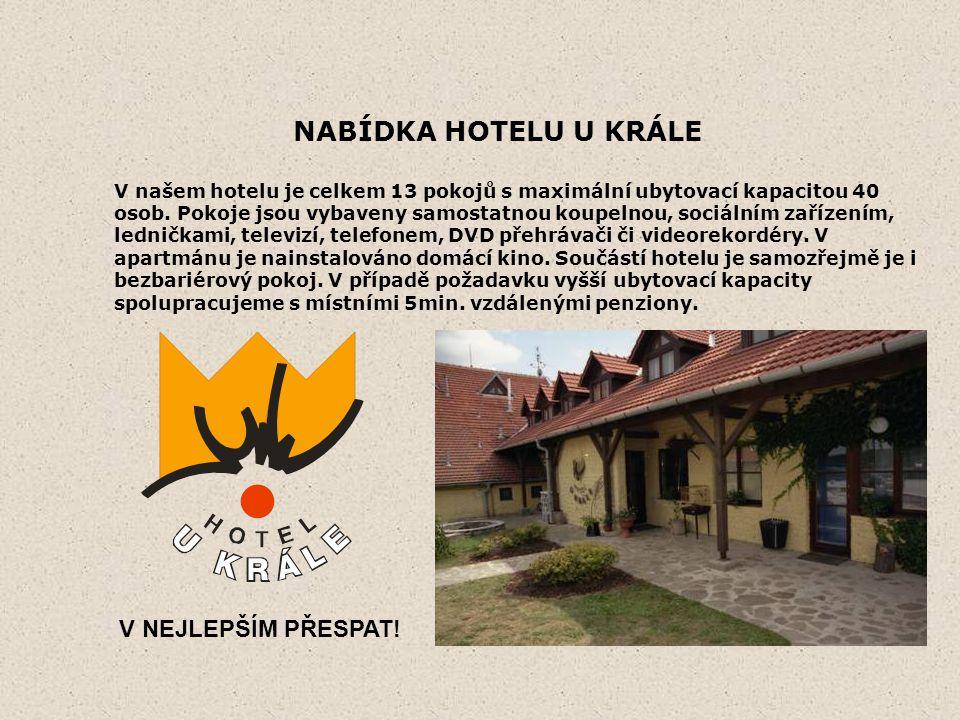 NABÍDKA HOTELU U KRÁLE V našem hotelu je celkem 13 pokojů s maximální ubytovací kapacitou 40 osob.